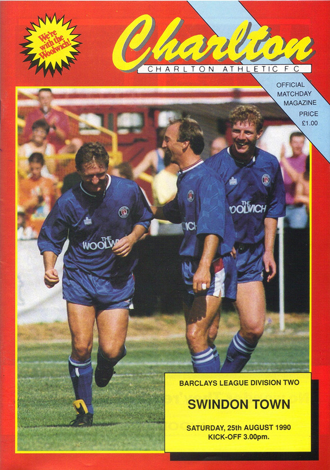 <b>Saturday, August 25, 1990</b><br />vs. Charlton Athletic (Away)