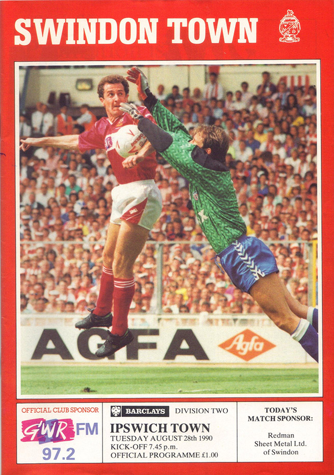 <b>Tuesday, August 28, 1990</b><br />vs. Ipswich Town (Home)