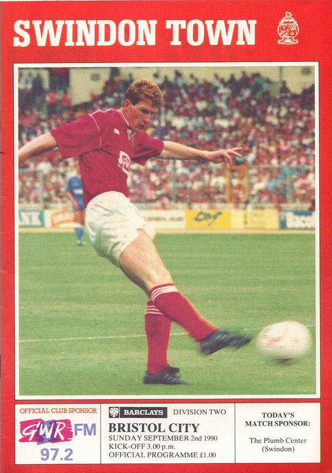 <b>Sunday, September 2, 1990</b><br />vs. Bristol City (Home)