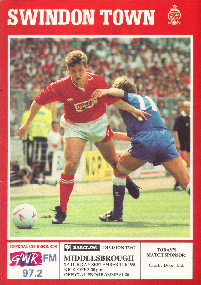 <b>Saturday, September 15, 1990</b><br />vs. Middlesbrough (Home)