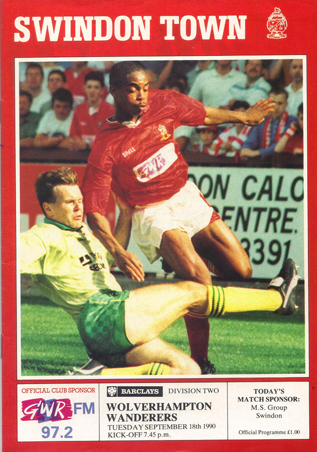 <b>Tuesday, September 18, 1990</b><br />vs. Wolverhampton Wanderers (Home)