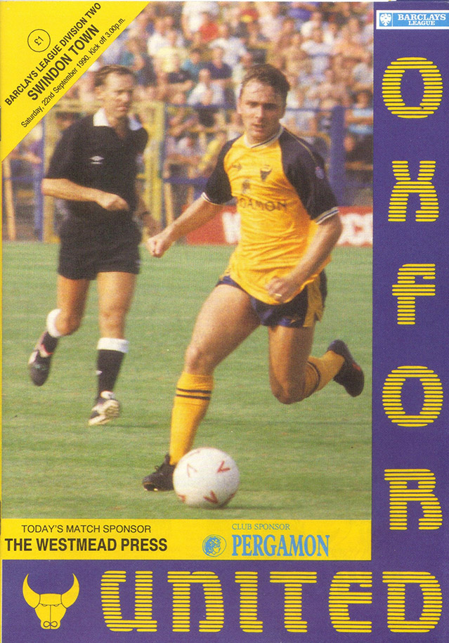 <b>Saturday, September 22, 1990</b><br />vs. Oxford United (Away)