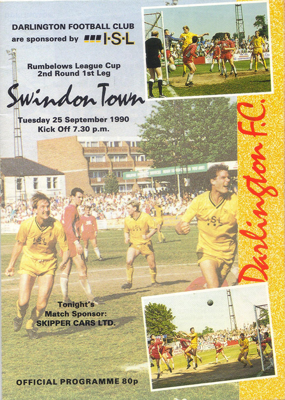 <b>Tuesday, September 25, 1990</b><br />vs. Darlington (Away)