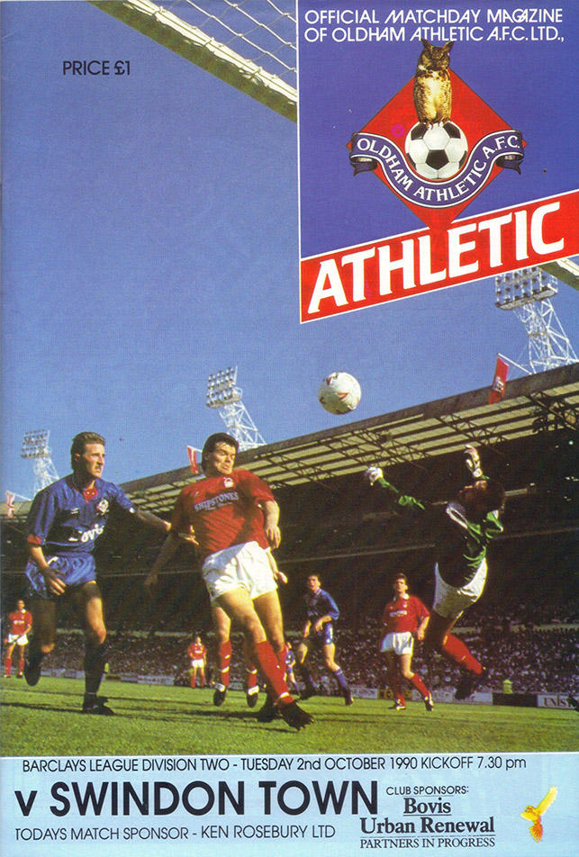 <b>Tuesday, October 2, 1990</b><br />vs. Oldham Athletic (Away)