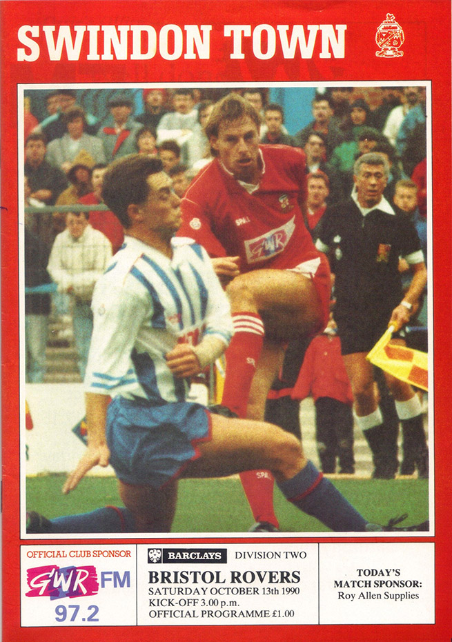 <b>Saturday, October 13, 1990</b><br />vs. Bristol Rovers (Home)