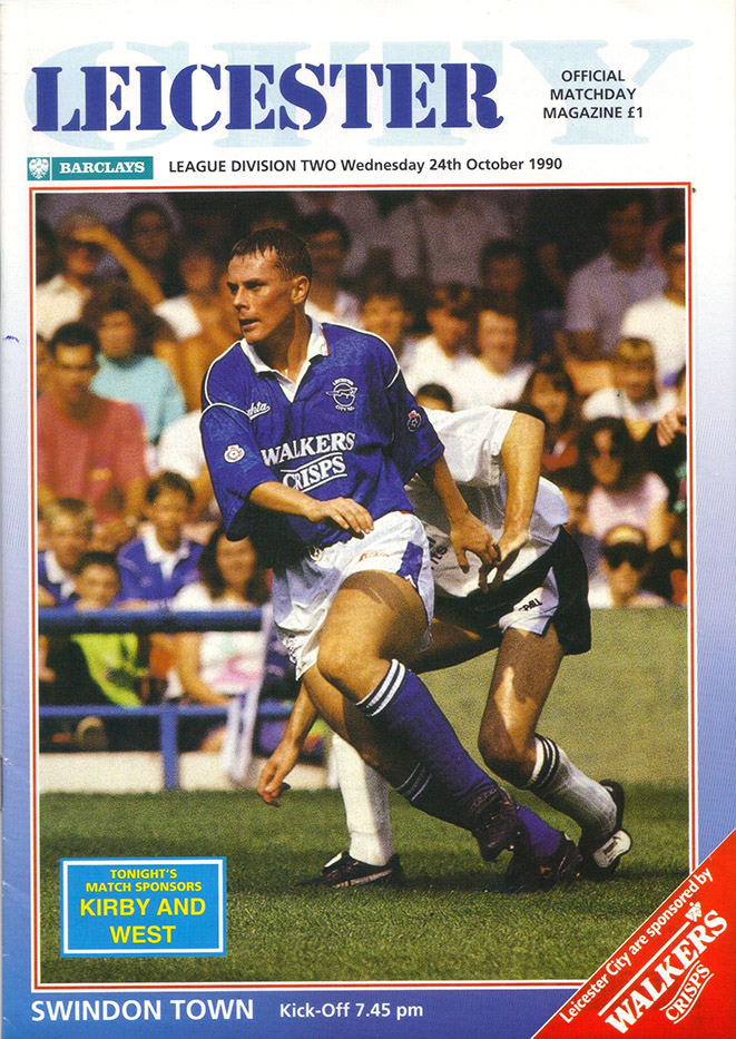 <b>Wednesday, October 24, 1990</b><br />vs. Leicester City (Away)