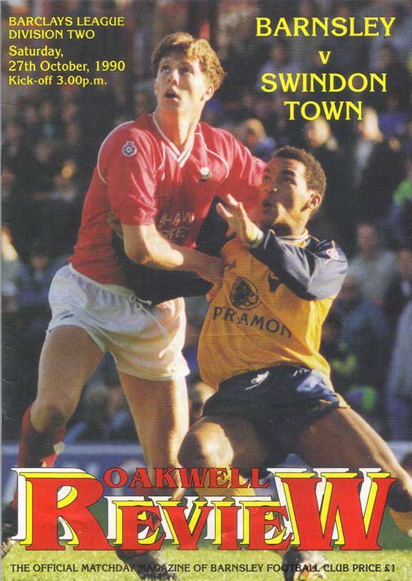 <b>Saturday, October 27, 1990</b><br />vs. Barnsley (Away)