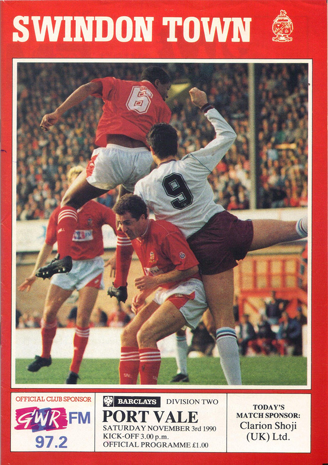 <b>Saturday, November 3, 1990</b><br />vs. Port Vale (Home)