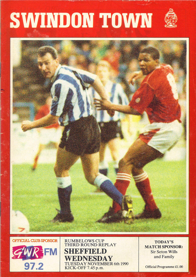 <b>Tuesday, November 6, 1990</b><br />vs. Sheffield Wednesday (Home)