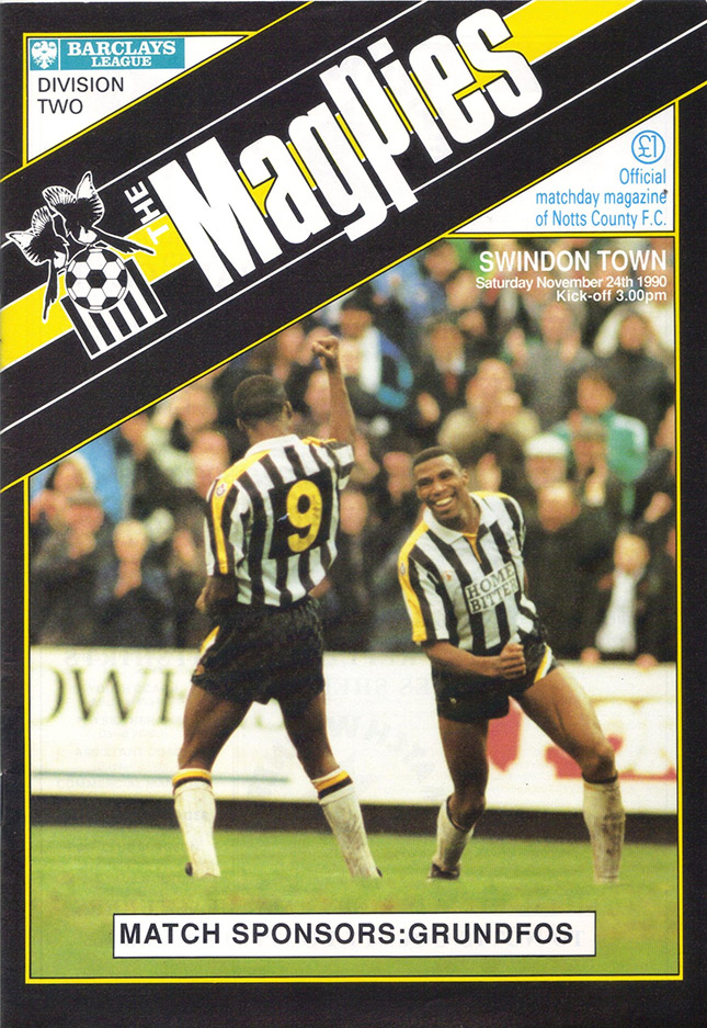 <b>Saturday, November 24, 1990</b><br />vs. Notts County (Away)