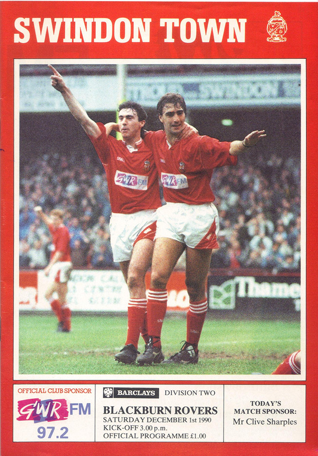 <b>Saturday, December 1, 1990</b><br />vs. Blackburn Rovers (Home)