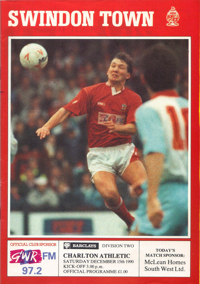 <b>Saturday, December 15, 1990</b><br />vs. Charlton Athletic (Home)