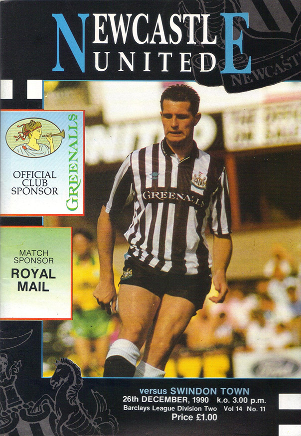 <b>Wednesday, December 26, 1990</b><br />vs. Newcastle United (Away)