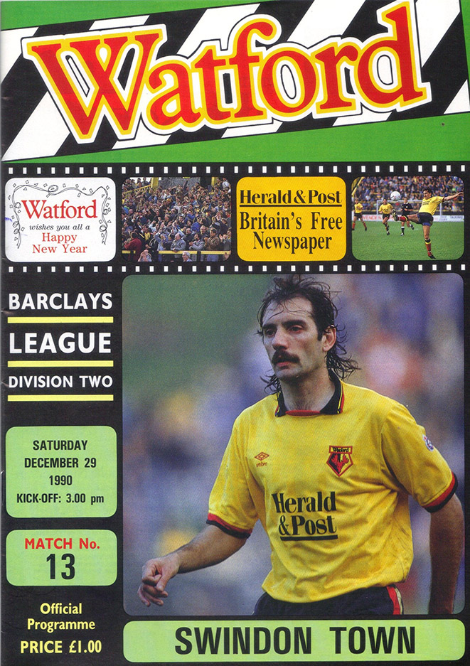 <b>Saturday, December 29, 1990</b><br />vs. Watford (Away)