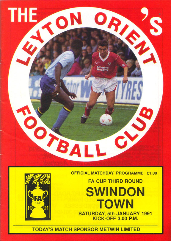 <b>Saturday, January 5, 1991</b><br />vs. Leyton Orient (Away)