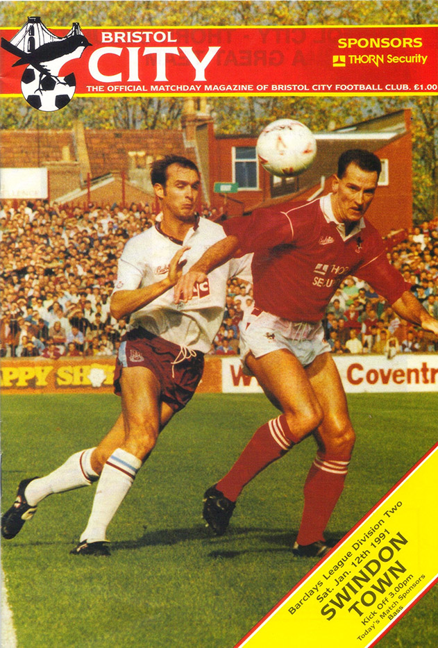 <b>Saturday, January 12, 1991</b><br />vs. Bristol City (Away)
