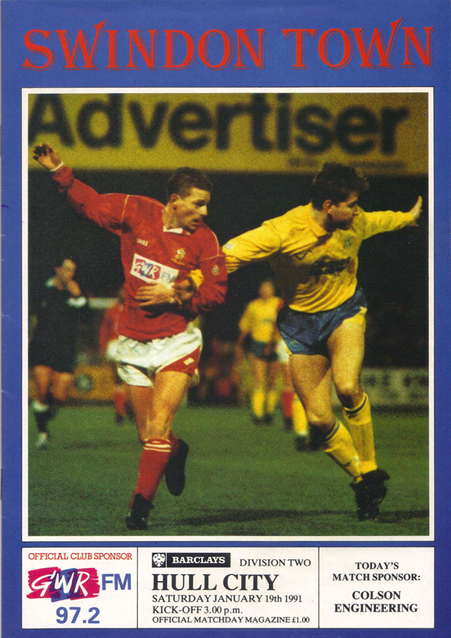<b>Saturday, January 19, 1991</b><br />vs. Hull City (Home)