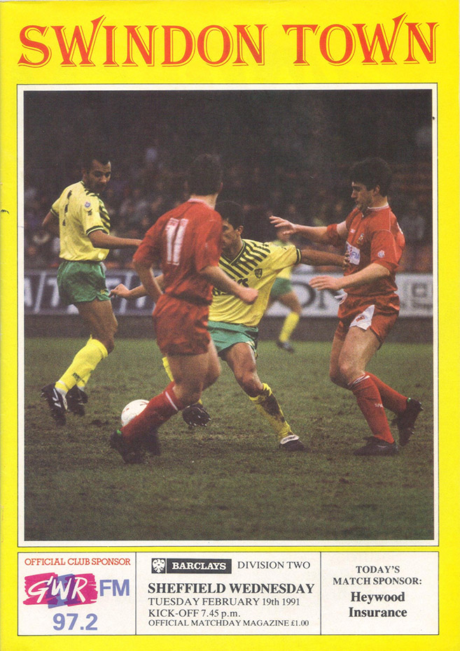 <b>Tuesday, February 19, 1991</b><br />vs. Sheffield Wednesday (Home)