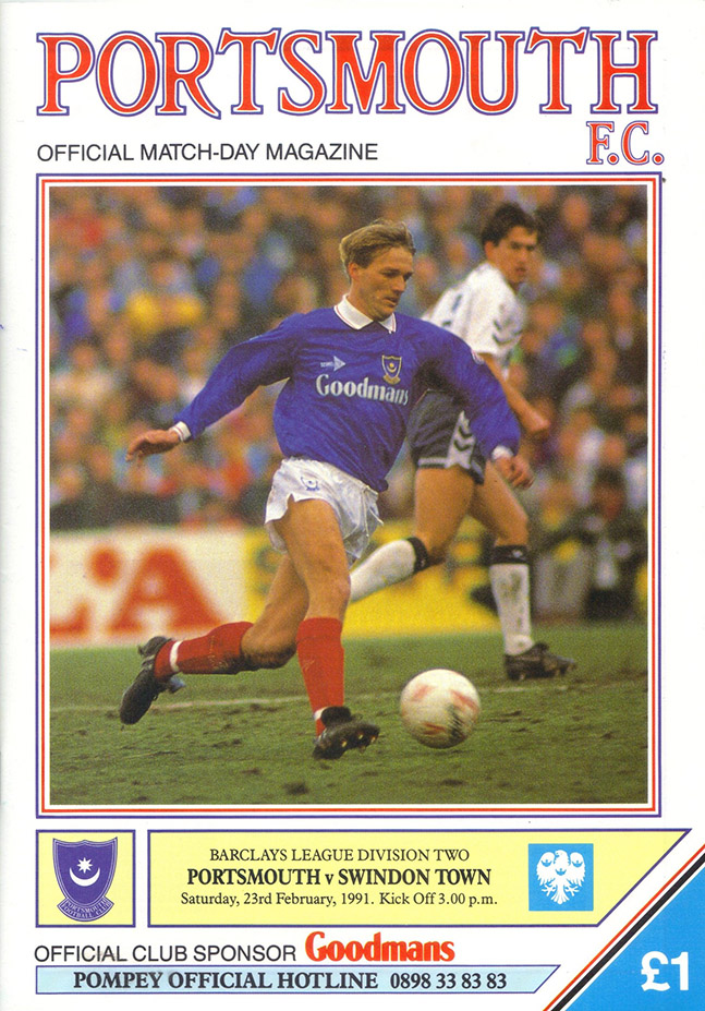 <b>Saturday, February 23, 1991</b><br />vs. Portsmouth (Away)