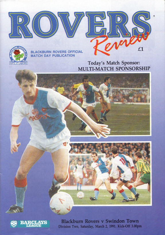 <b>Saturday, March 2, 1991</b><br />vs. Blackburn Rovers (Away)