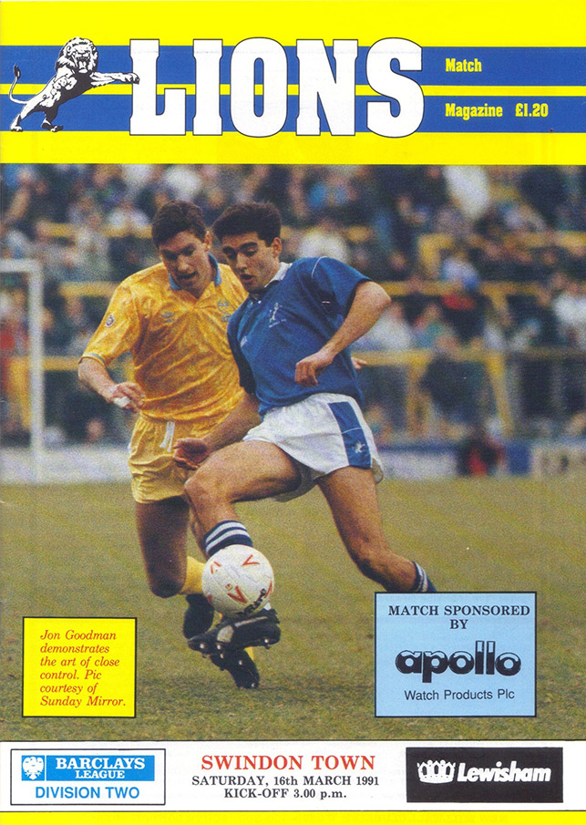 <b>Saturday, March 16, 1991</b><br />vs. Millwall (Away)