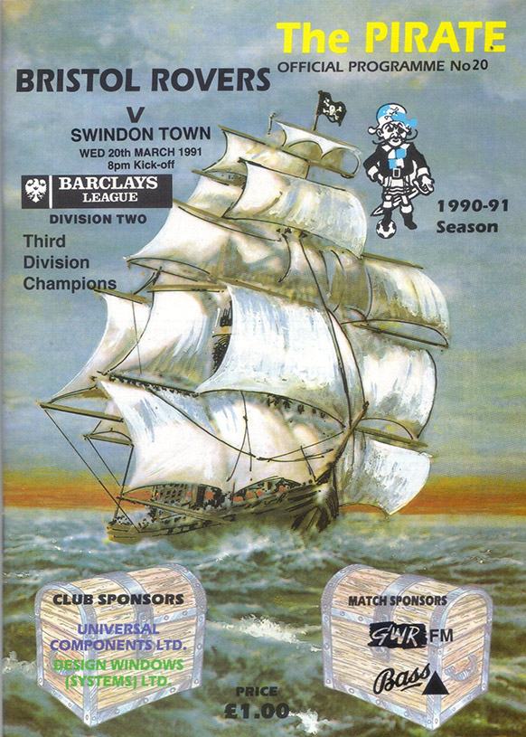<b>Wednesday, March 20, 1991</b><br />vs. Bristol Rovers (Away)
