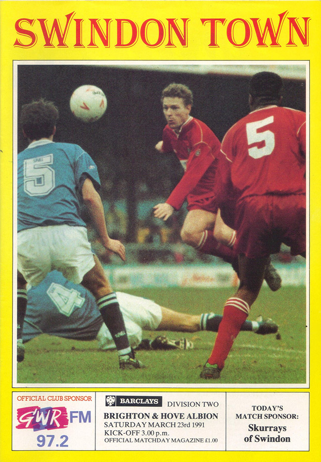 <b>Saturday, March 23, 1991</b><br />vs. Brighton and Hove Albion (Home)