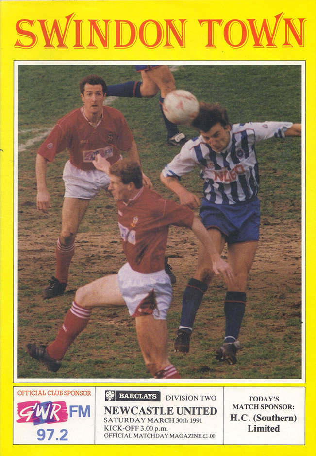 <b>Saturday, March 30, 1991</b><br />vs. Newcastle United (Home)