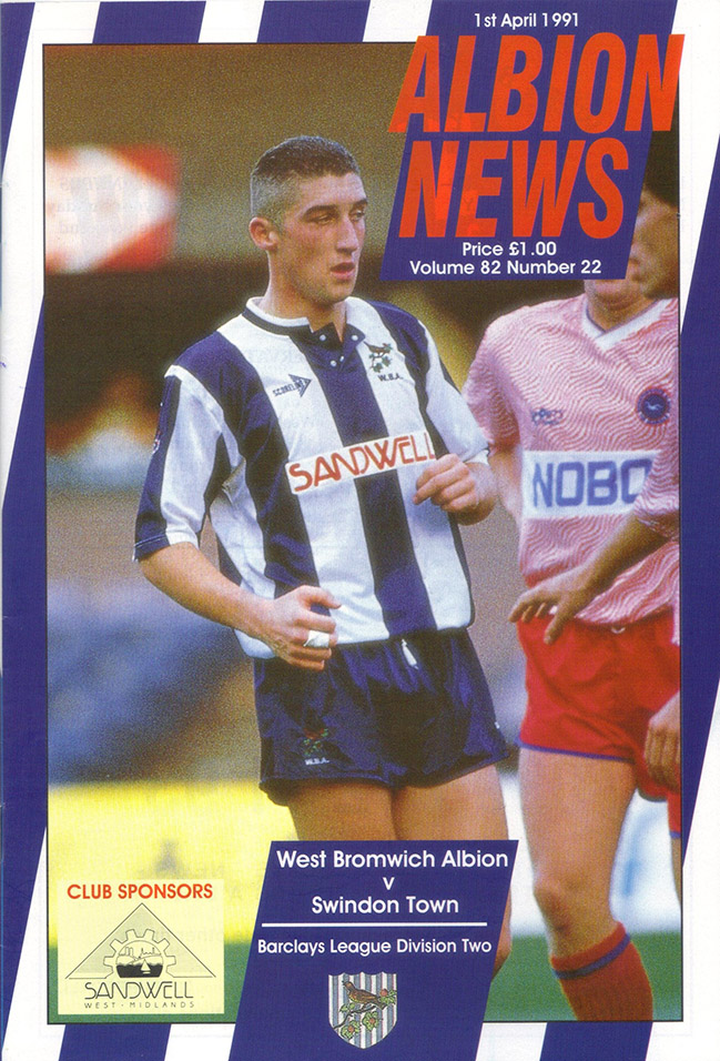 <b>Monday, April 1, 1991</b><br />vs. West Bromwich Albion (Away)