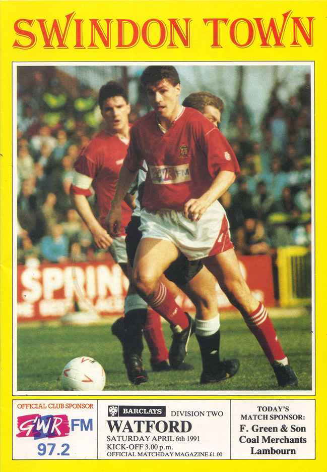 <b>Saturday, April 6, 1991</b><br />vs. Watford (Home)