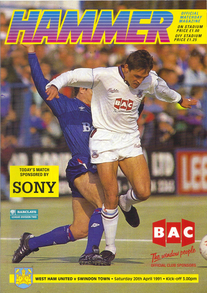 <b>Saturday, April 20, 1991</b><br />vs. West Ham United (Away)