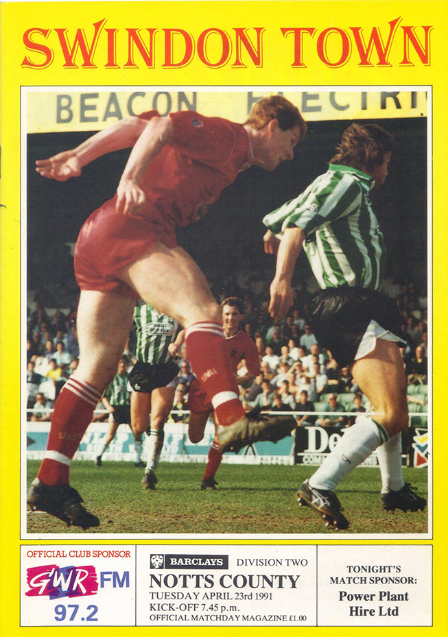<b>Tuesday, April 23, 1991</b><br />vs. Notts County (Home)