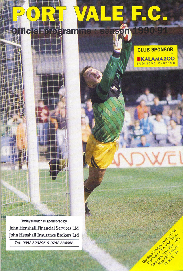 <b>Saturday, May 11, 1991</b><br />vs. Port Vale (Away)