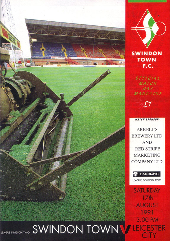 <b>Saturday, August 17, 1991</b><br />vs. Leicester City (Home)