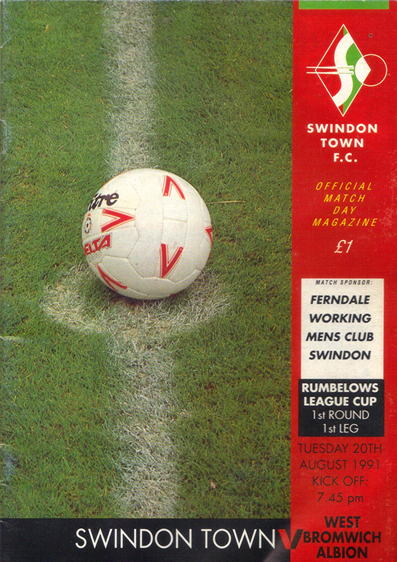 <b>Tuesday, August 20, 1991</b><br />vs. West Bromwich Albion (Home)