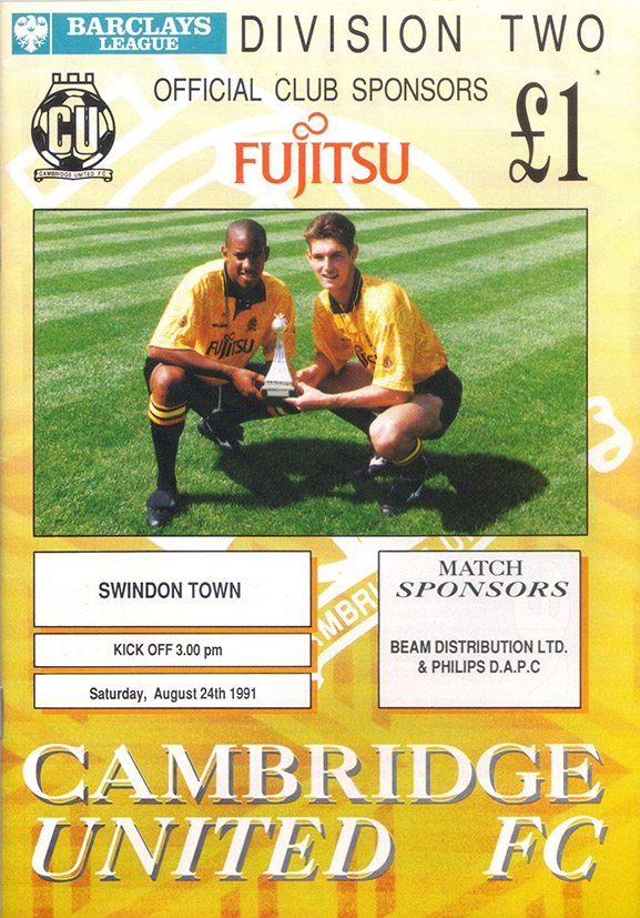 <b>Saturday, August 24, 1991</b><br />vs. Cambridge United (Away)