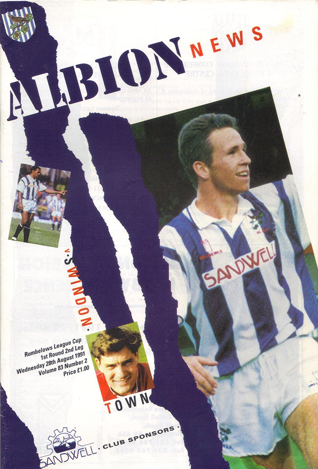 <b>Wednesday, August 28, 1991</b><br />vs. West Bromwich Albion (Away)