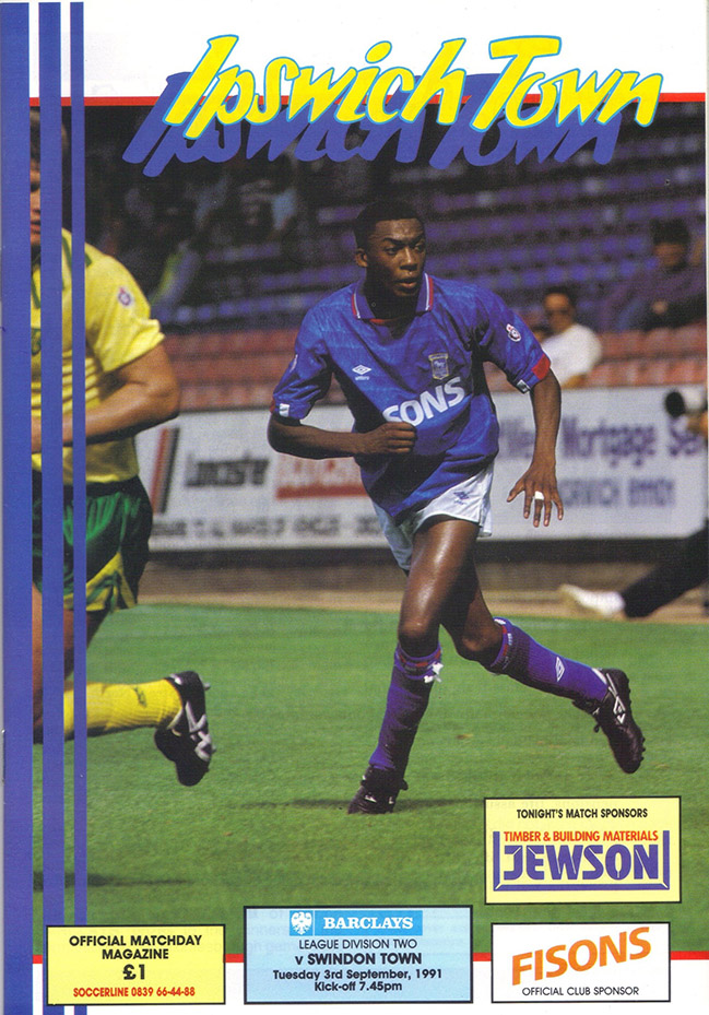 <b>Tuesday, September 3, 1991</b><br />vs. Ipswich Town (Away)