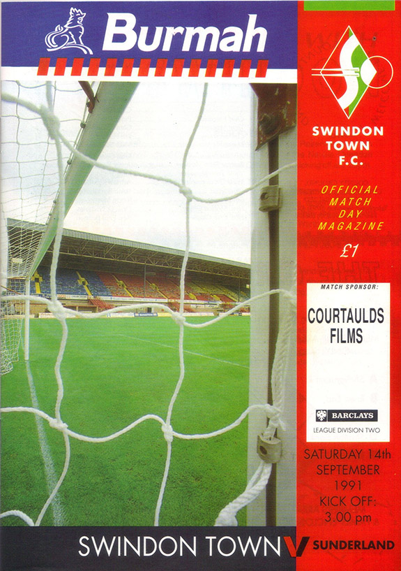 <b>Saturday, September 14, 1991</b><br />vs. Sunderland (Home)