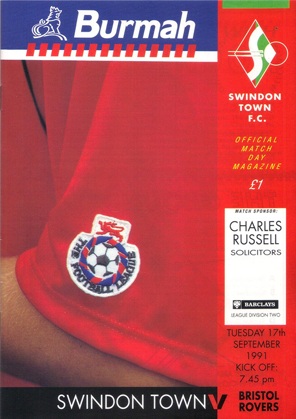 <b>Tuesday, September 17, 1991</b><br />vs. Bristol Rovers (Home)