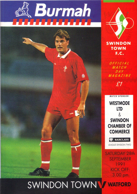 <b>Saturday, September 28, 1991</b><br />vs. Watford (Home)