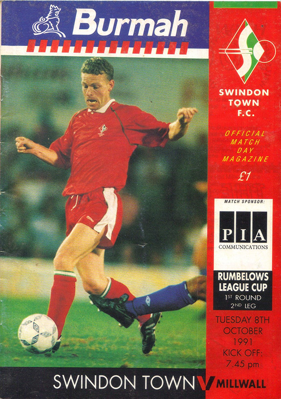 <b>Tuesday, October 8, 1991</b><br />vs. Millwall (Home)