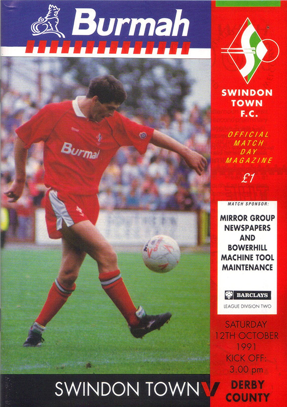 <b>Saturday, October 12, 1991</b><br />vs. Derby County (Home)