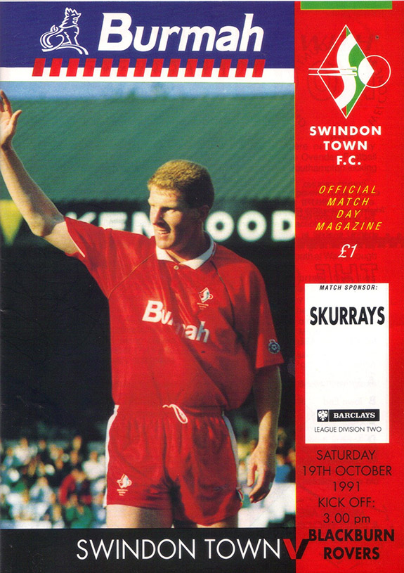 <b>Saturday, October 19, 1991</b><br />vs. Blackburn Rovers (Home)