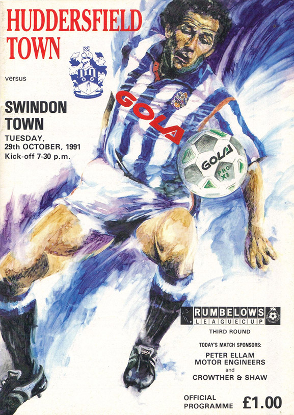 <b>Tuesday, October 29, 1991</b><br />vs. Huddersfield Town (Away)