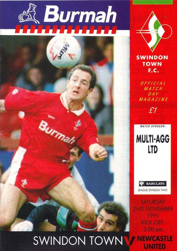 <b>Saturday, November 2, 1991</b><br />vs. Newcastle United (Home)