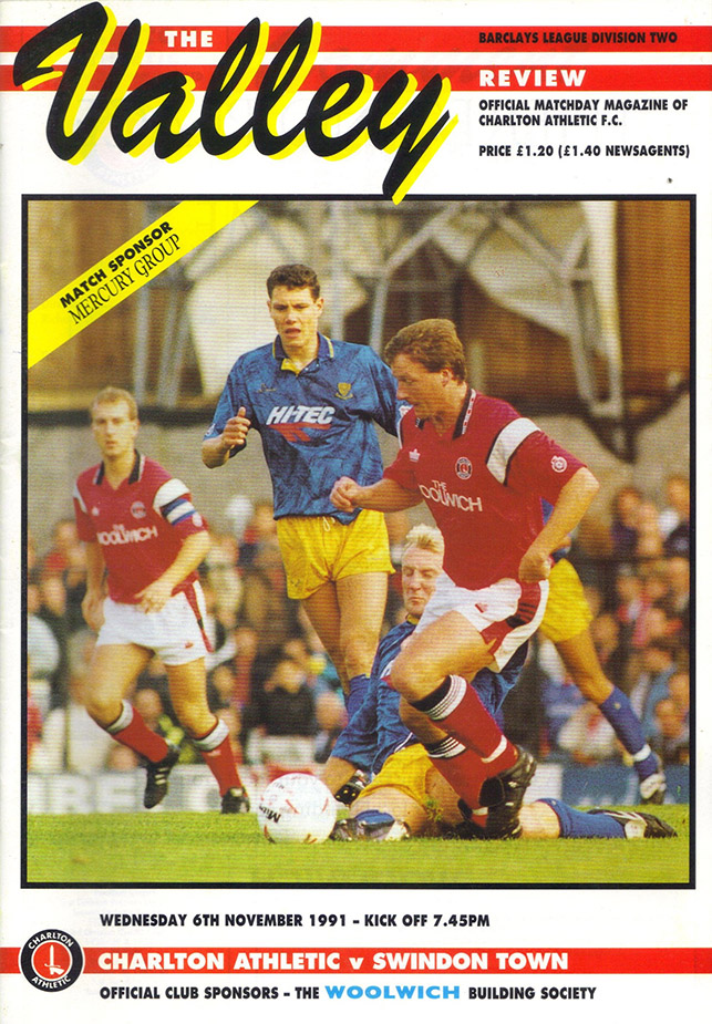 <b>Wednesday, November 6, 1991</b><br />vs. Charlton Athletic (Away)