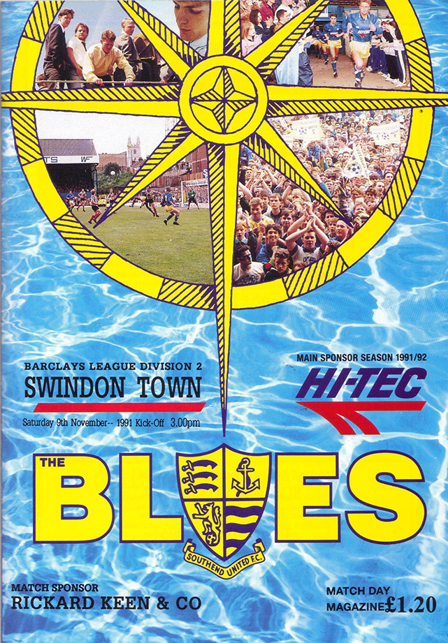 <b>Saturday, November 9, 1991</b><br />vs. Southend United (Away)