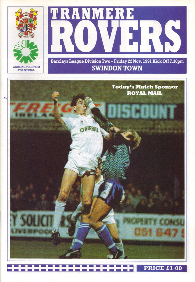 <b>Friday, November 22, 1991</b><br />vs. Tranmere Rovers (Away)