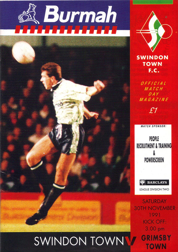 <b>Saturday, November 30, 1991</b><br />vs. Grimsby Town (Home)